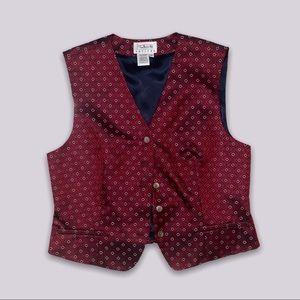 red talbots vest size 14